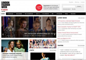 londonfashionweek website
