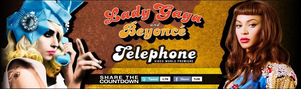 il countdown di telephone su ladygaga.com