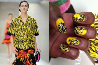 prada banana nails