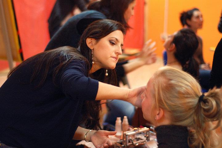 un momento di lezione Make Up Training