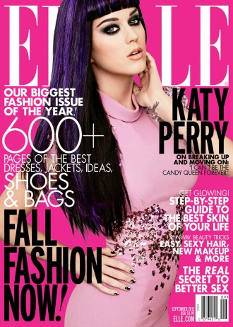 ELLE KATY PERRY COVER bright pink ln