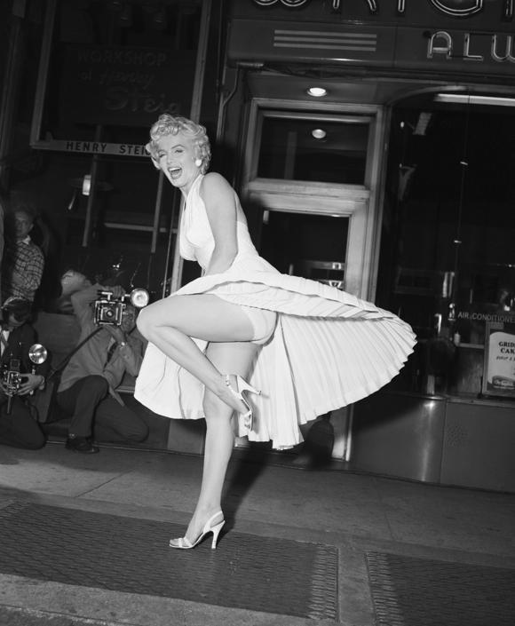 Marilyn Monroe on Subway Grate