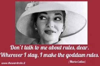 Maria callas quotes rules