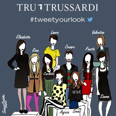 evento tweetyourlook Tru Trussardi