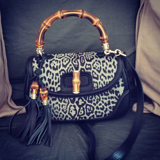 Gucci Bamboo Bag Animalier