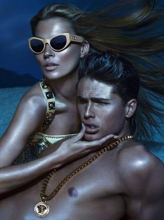 signature sunglasses Versace campaign