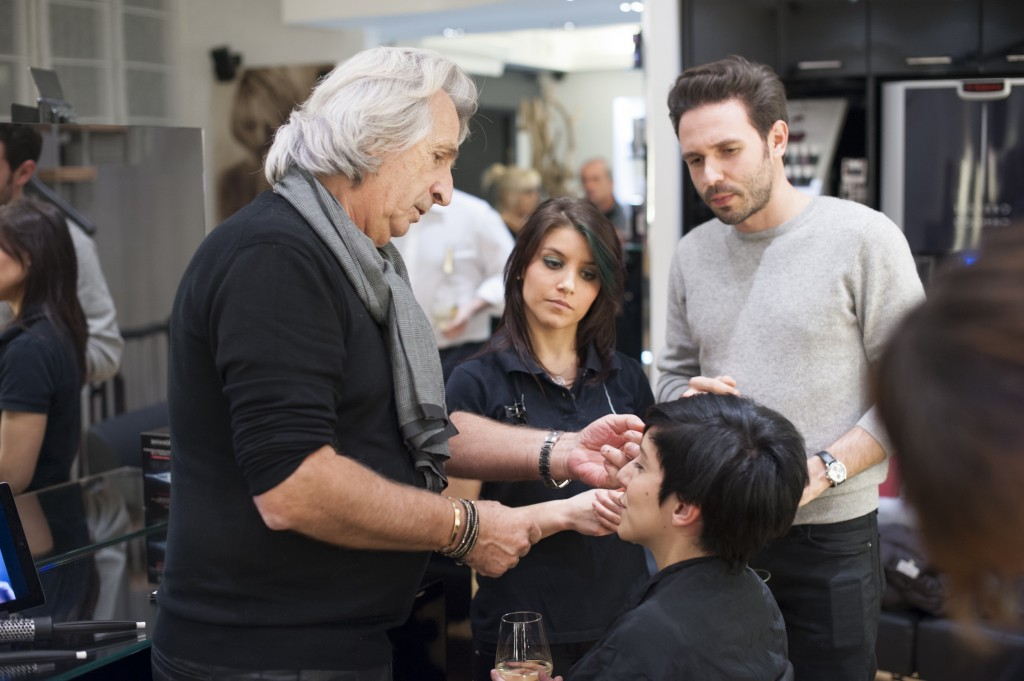 Simona Melani con Luciano Colombo - L'oreal hairchalk