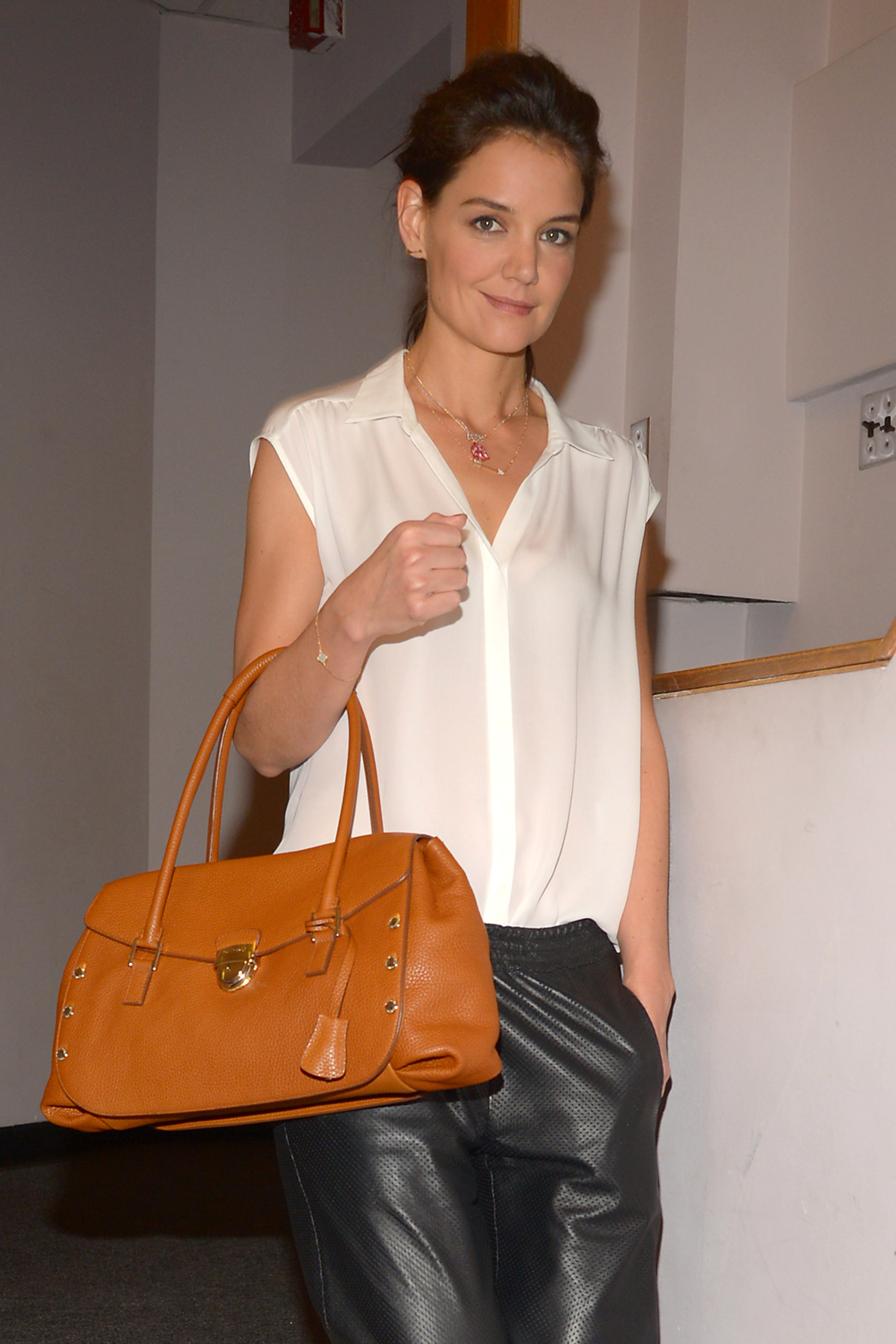 Katie Holmes Looking Great In this Trussardi Bag