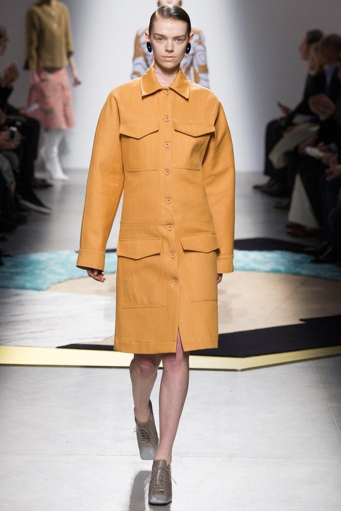 acne cappotto senape