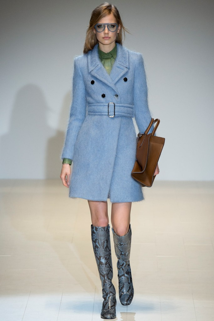 gucci cappotto azzurro lana