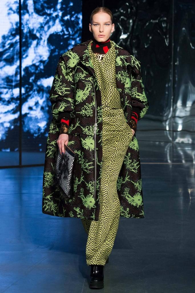 kenzo cappotto nero verde