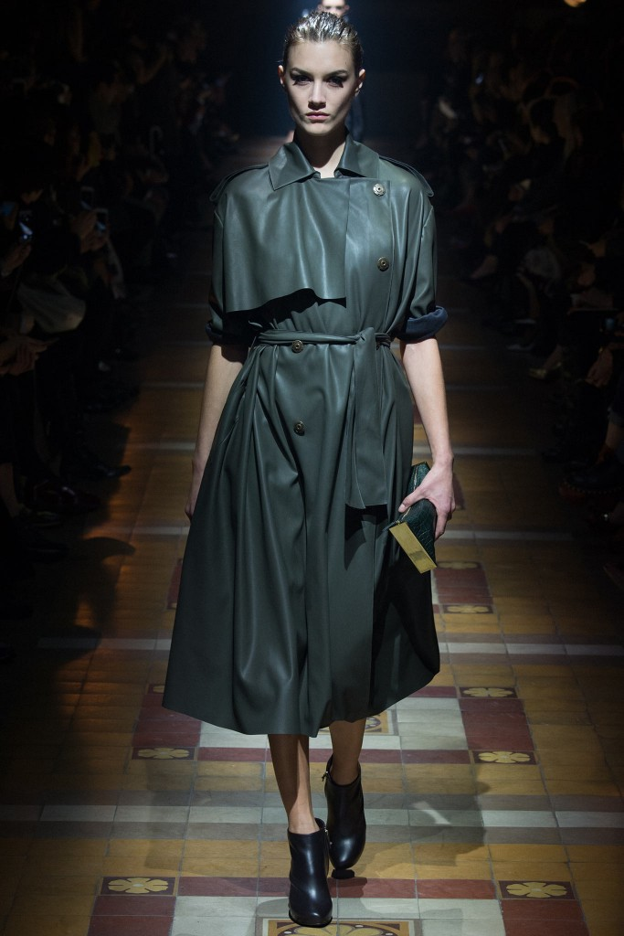 lanvin trench pelle