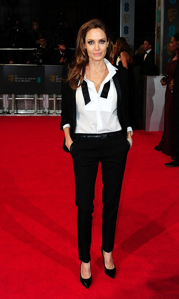 Angelina Jolie in Saint Laurent, Bafta 2014