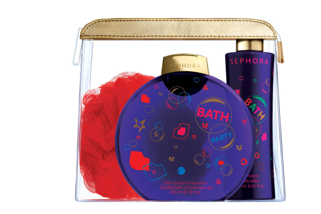 Bath Party limited edition: i detergenti Sephora si vestono a festa. In pochette € 16,90, disponibili anche i prodotti singoli.