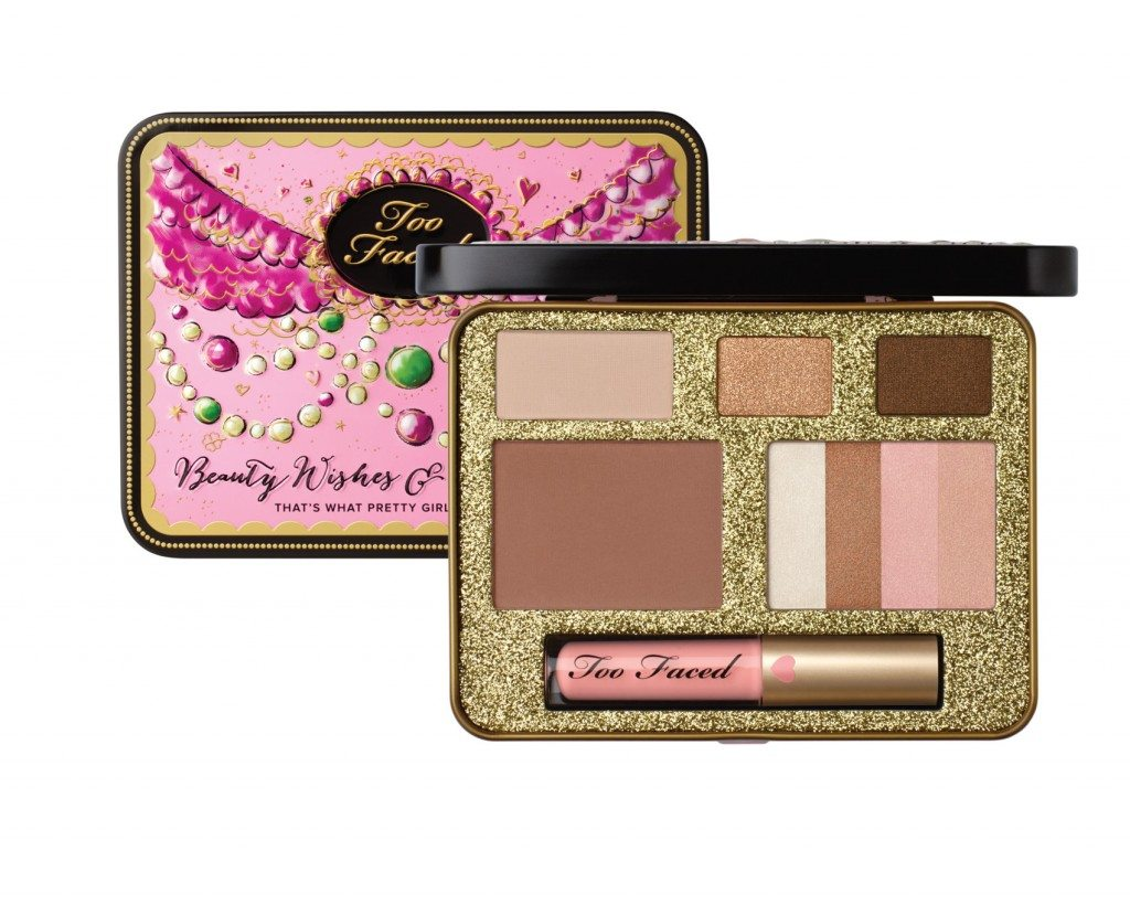 Palette Beauty Wishes & Sweet Kisses d Too Faced, 3 ombretti, un blush e un illuminante € 30,00