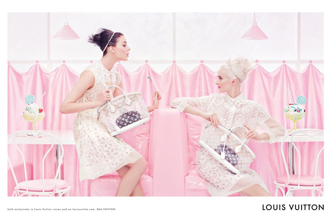 Louis Vuitton Spring Summer  ad campaign by Steven Meisel