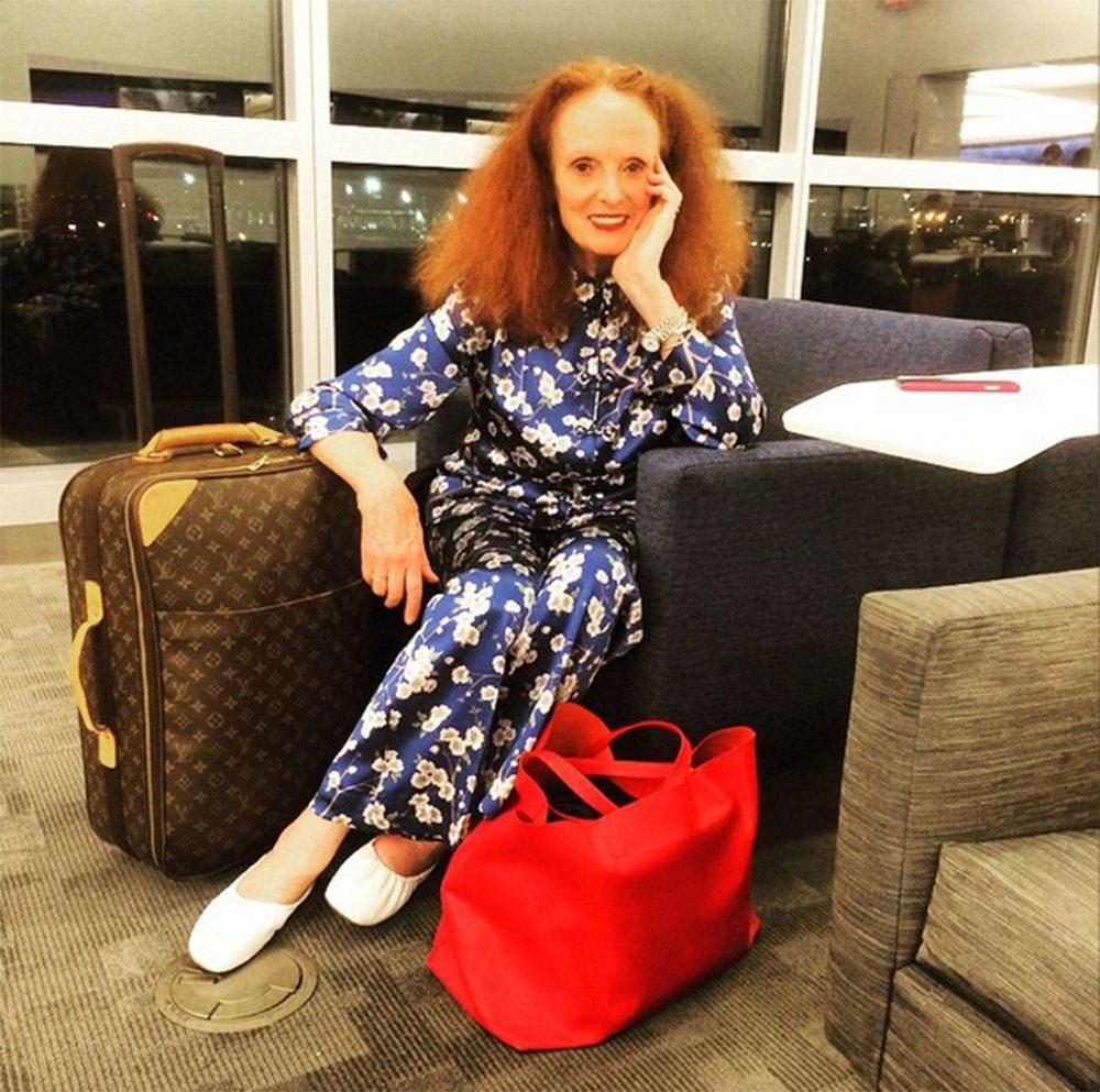 Grace Coddington Met Gala instagram aeroporto