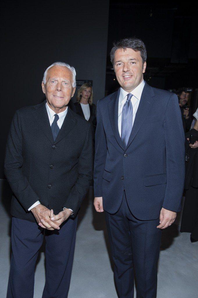 Matteo Renzi e Giorgio Armani