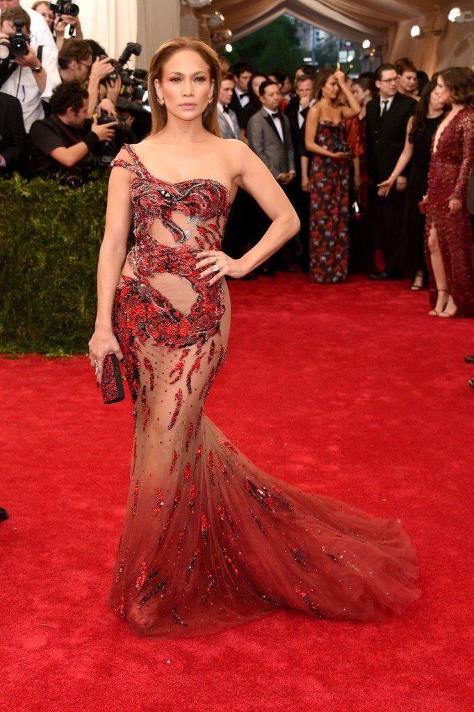 Jennifer Lopez Met Gala 2015 Versace Atelier