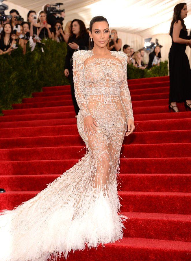 Kim Kardashian Met Gala 2015 Roberto Cavalli