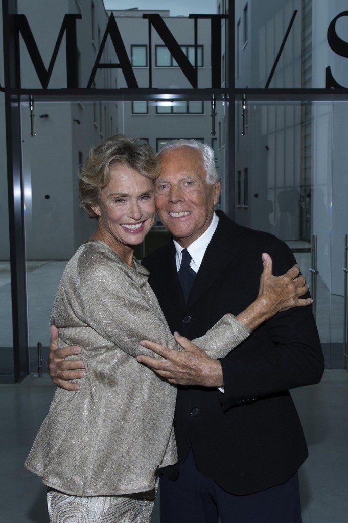 Lauren Hutton e Giorgio Armani