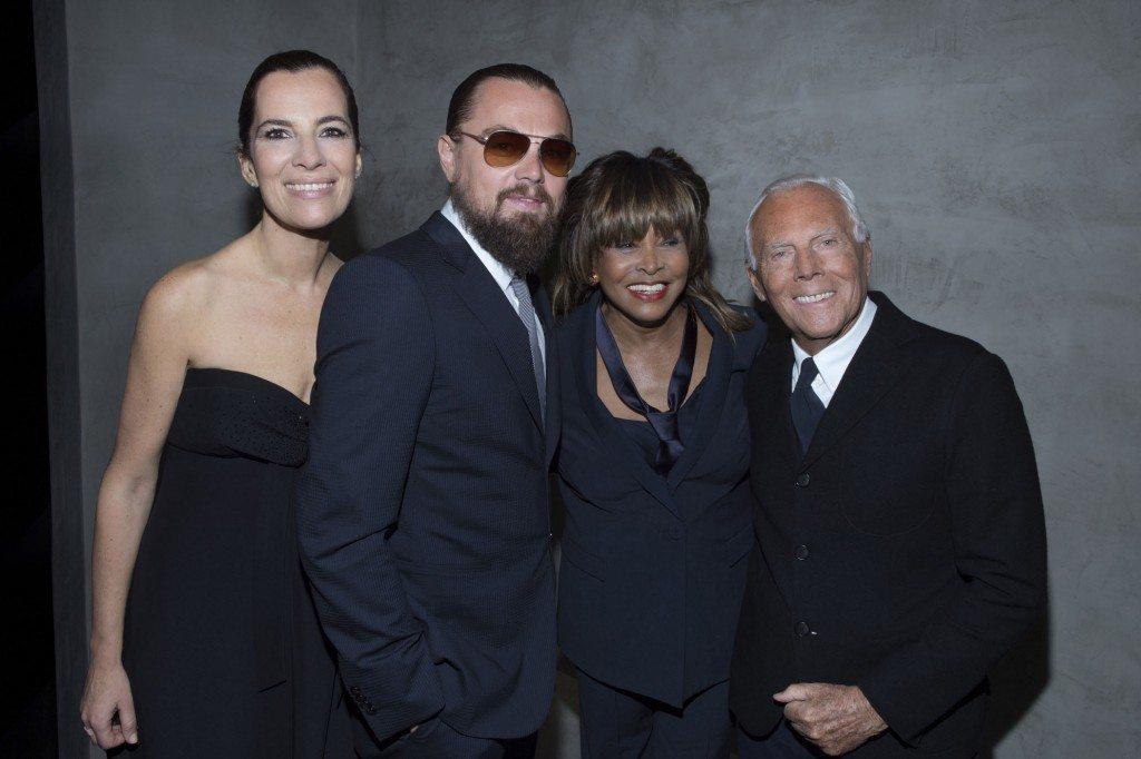 Roberta Armani, Leonardo DiCaprio, Tina Turner e Giorgio Armani