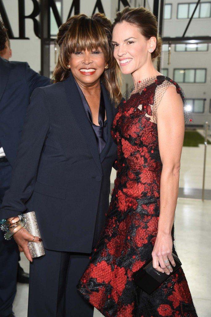 Tina Turner e Hilary Swank
