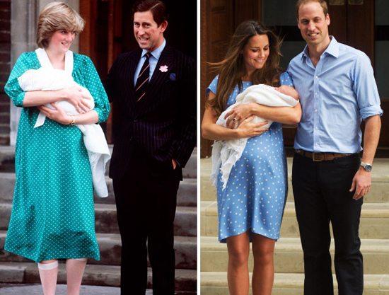 Outfit a confronto, in occasione della nascita del primo Royal Baby.