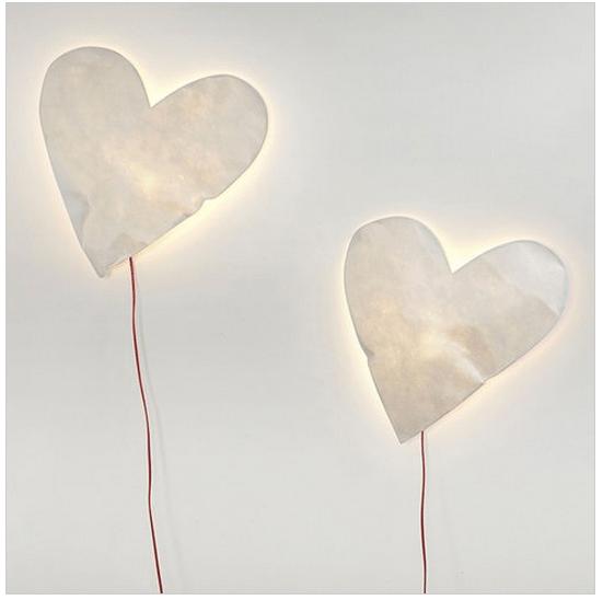 ILLUMINAZIONE lampade a cuore