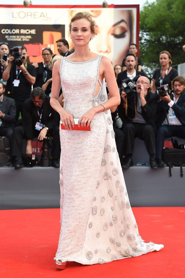 Diane Kruger in Prada Festival di Venezia 2015, un red carpet da sogno