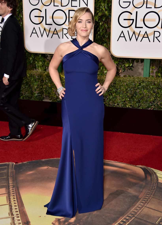 Kate Winslet in Ralph Lauren - classico ed elegante in un rassicurante tono di blu