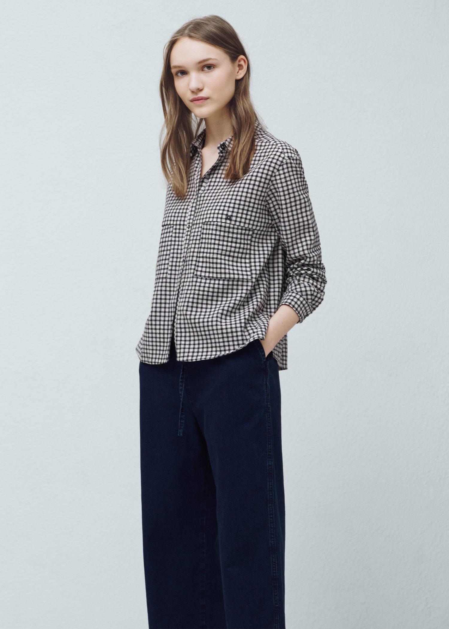 camicia cotone quadretti vichy