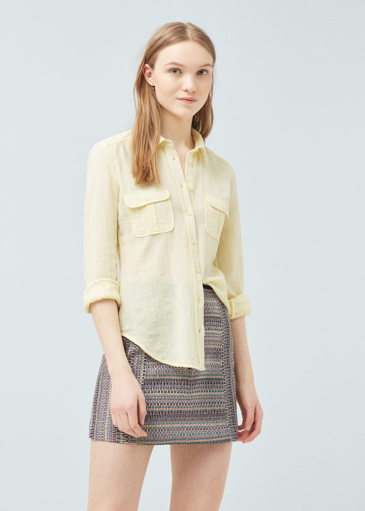 camicia pastello disponibile in vari colori mango