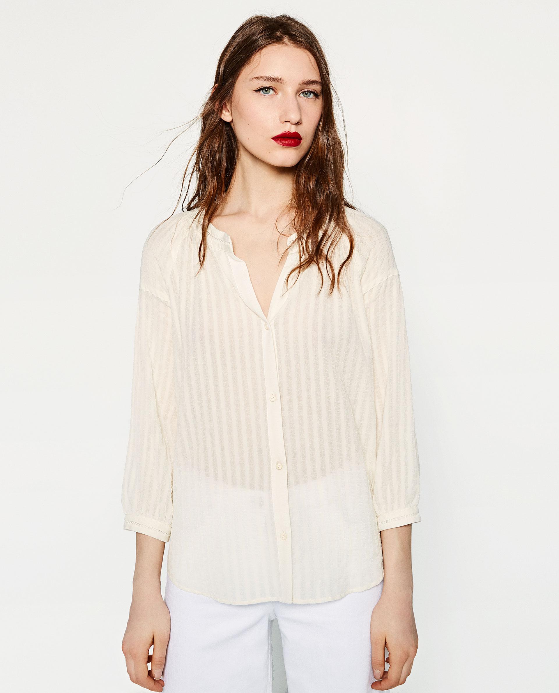 camicia senza colletto