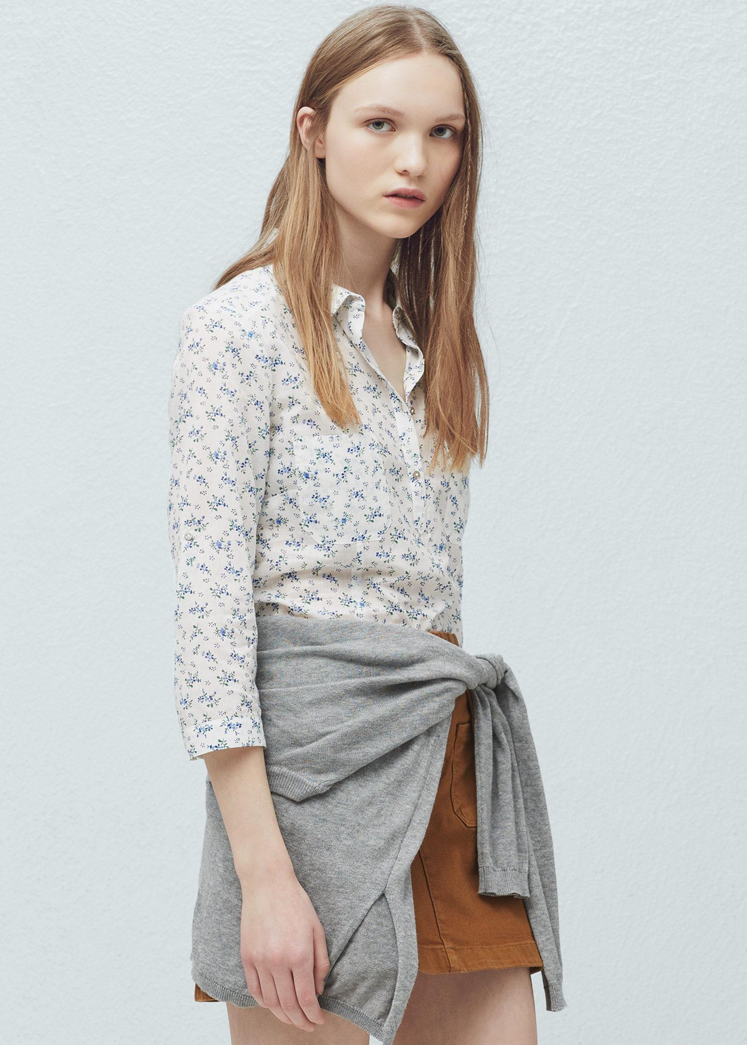 camicia stampa fiori romantica