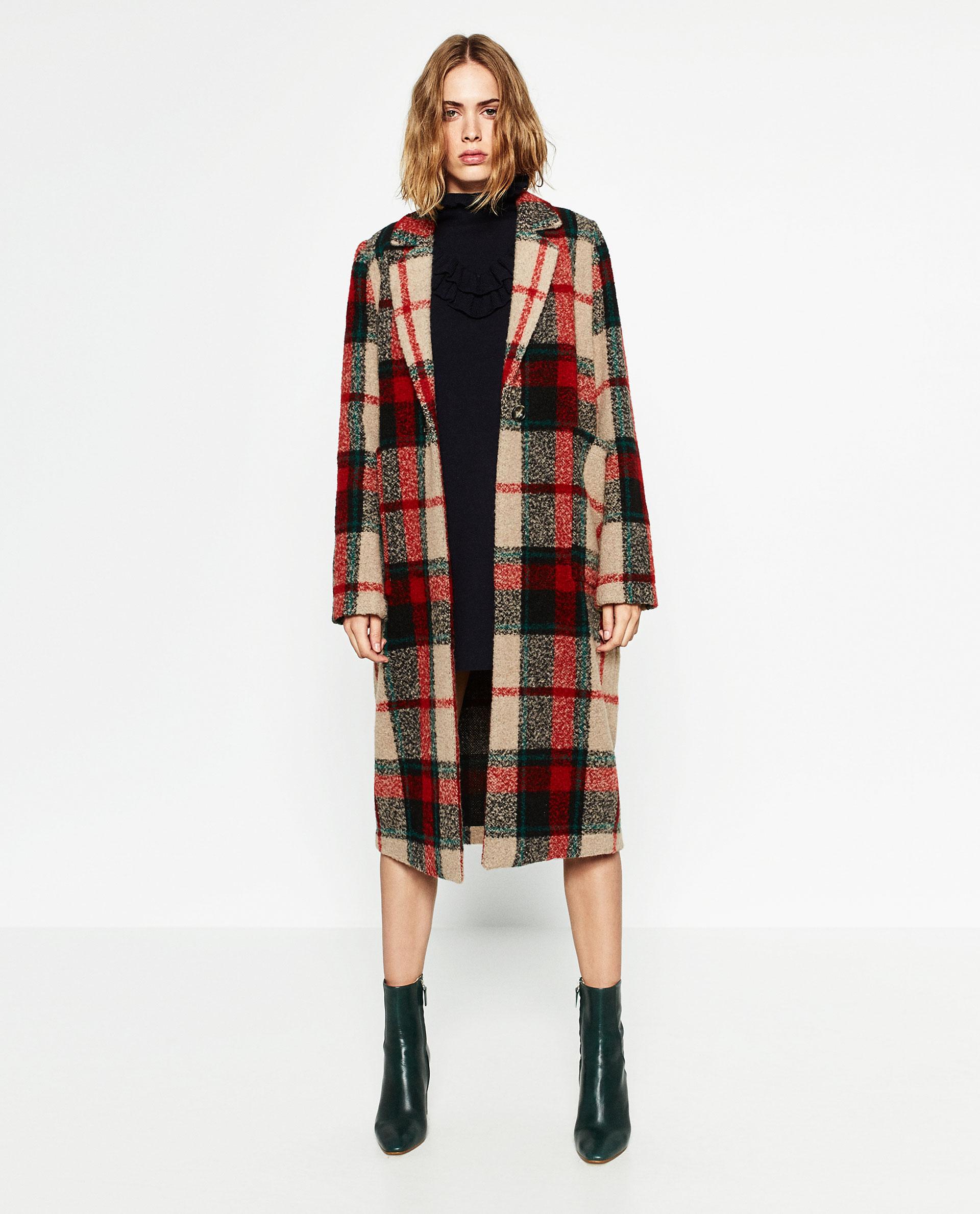 Cappotto invernale a quadri, lo trovate da Zara