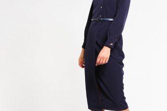 vestito navy con fiocco