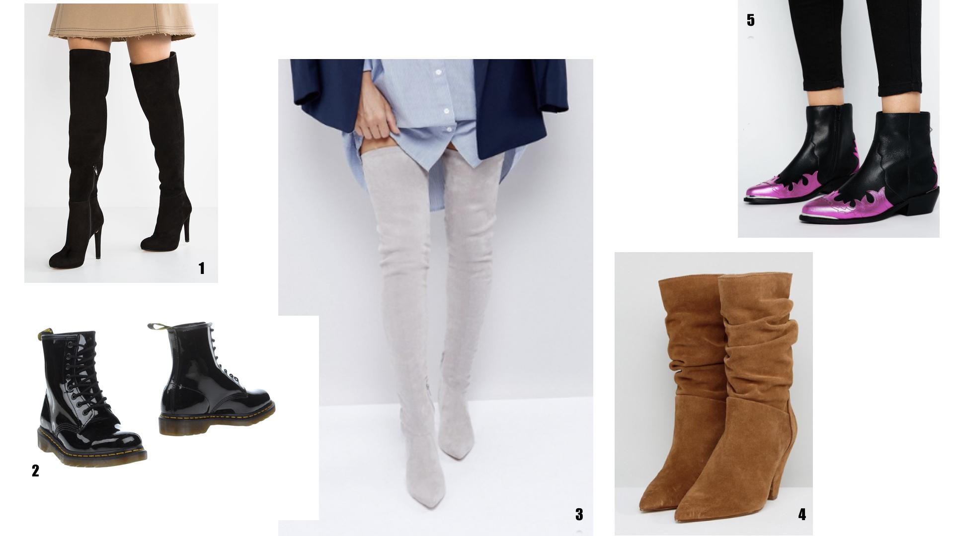 Gli stivali di tendenza dell autunno 2018 possono essere raggruppati in –  Stivali da cowboy – Stivali altissimi 9f1285eb121