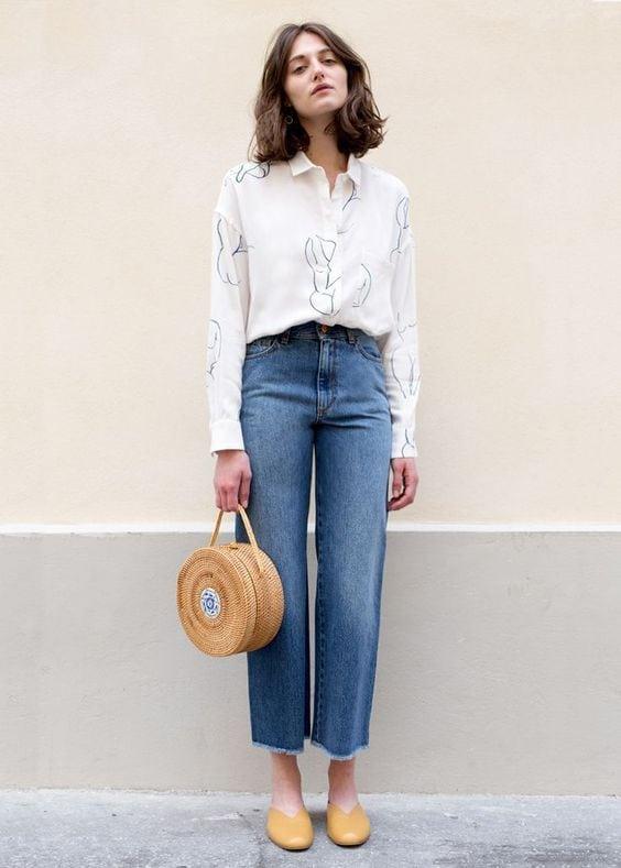 borsa rotonda di paglia come indossarla